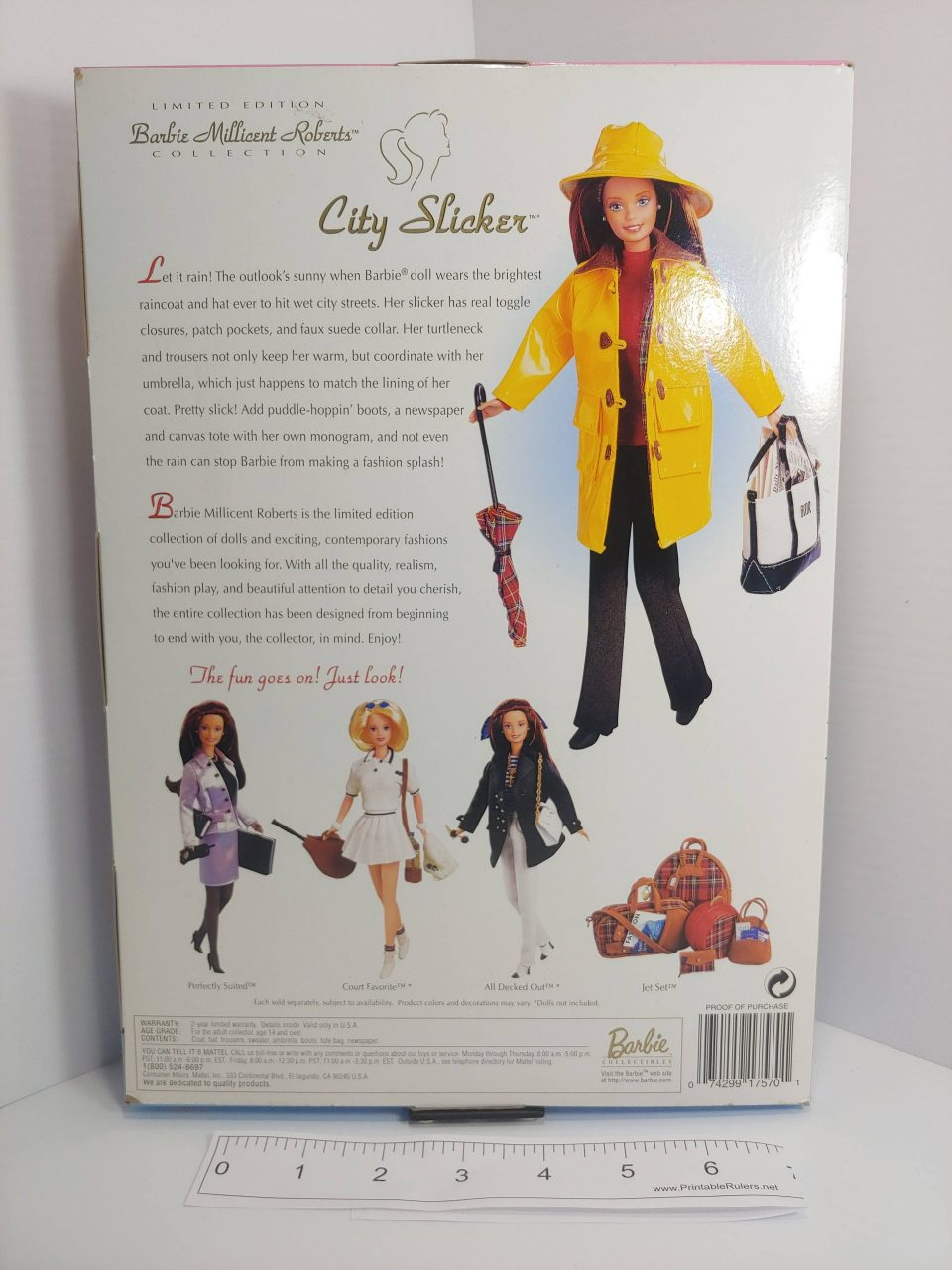 Limited Edition Barbie Millicent Roberts City Slicker Accessories, MPN 17570