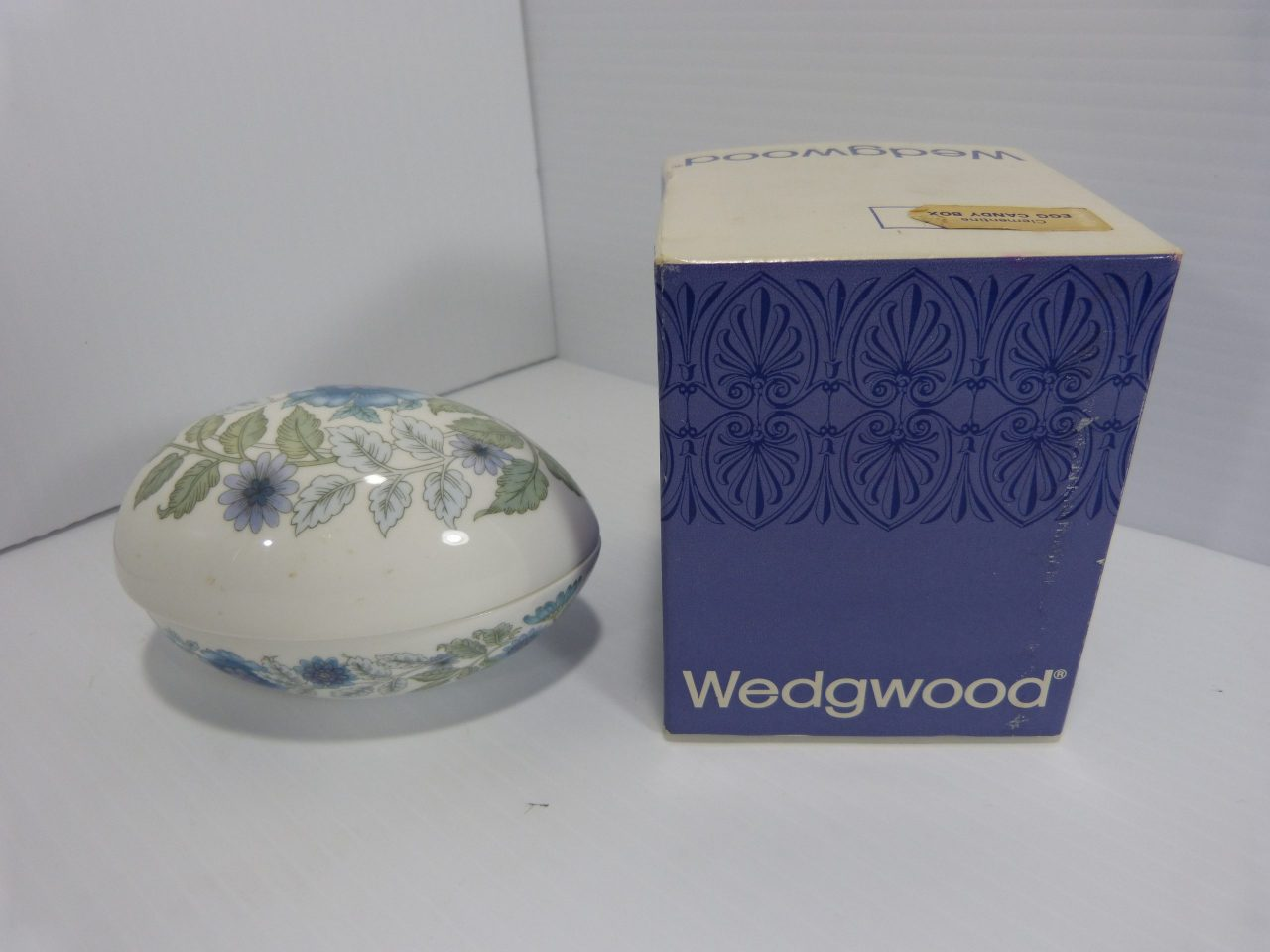 Wedgwood Clementine Egg Shaped Candy/Trinket Box