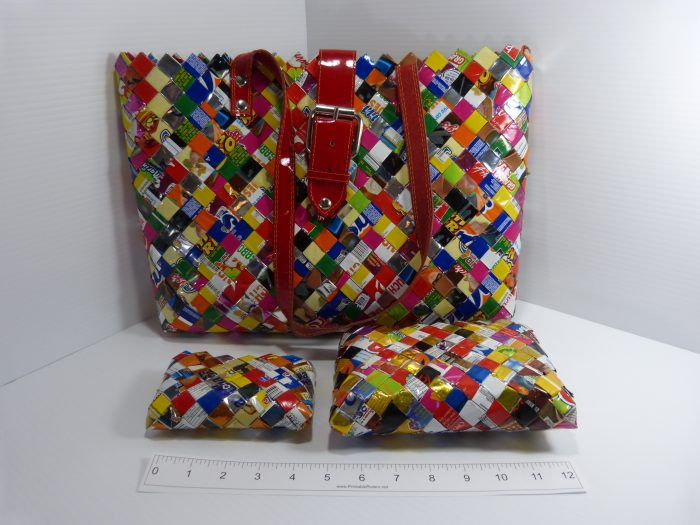 Candy Wrapper 3 Piece Bag Set - Nahui Ollin