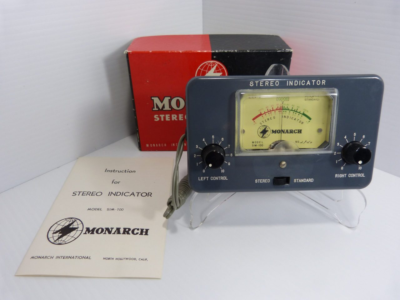 Monarch Stereo Indicator Model SIM-100