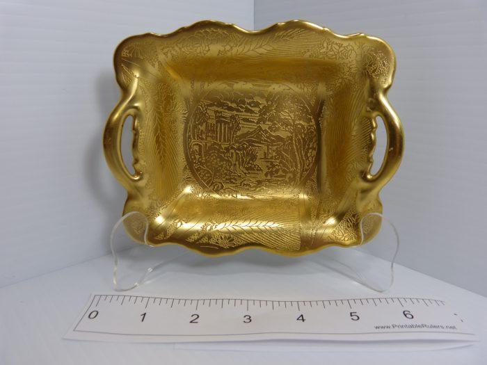 Noritake 1931 Gold Encrusted Scenic Pattern China Dish