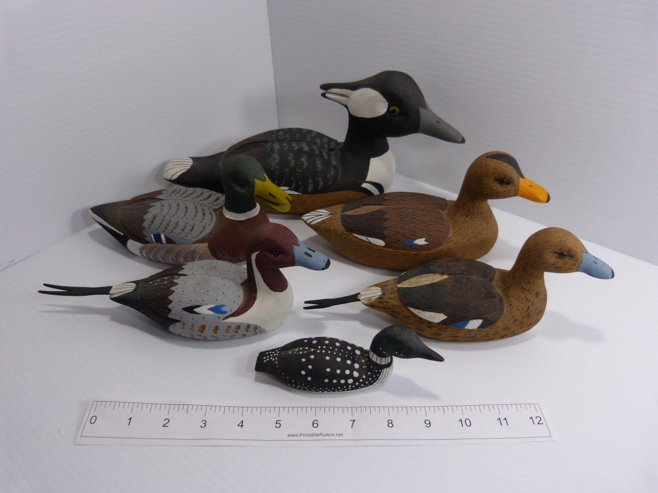 Pop & Ole Dean Wooden Decoy Ducks Set of 6