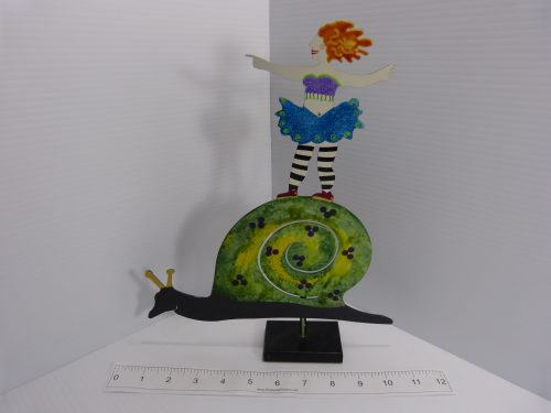 Judie Bomberger Sculpture Ballerina on a Snail