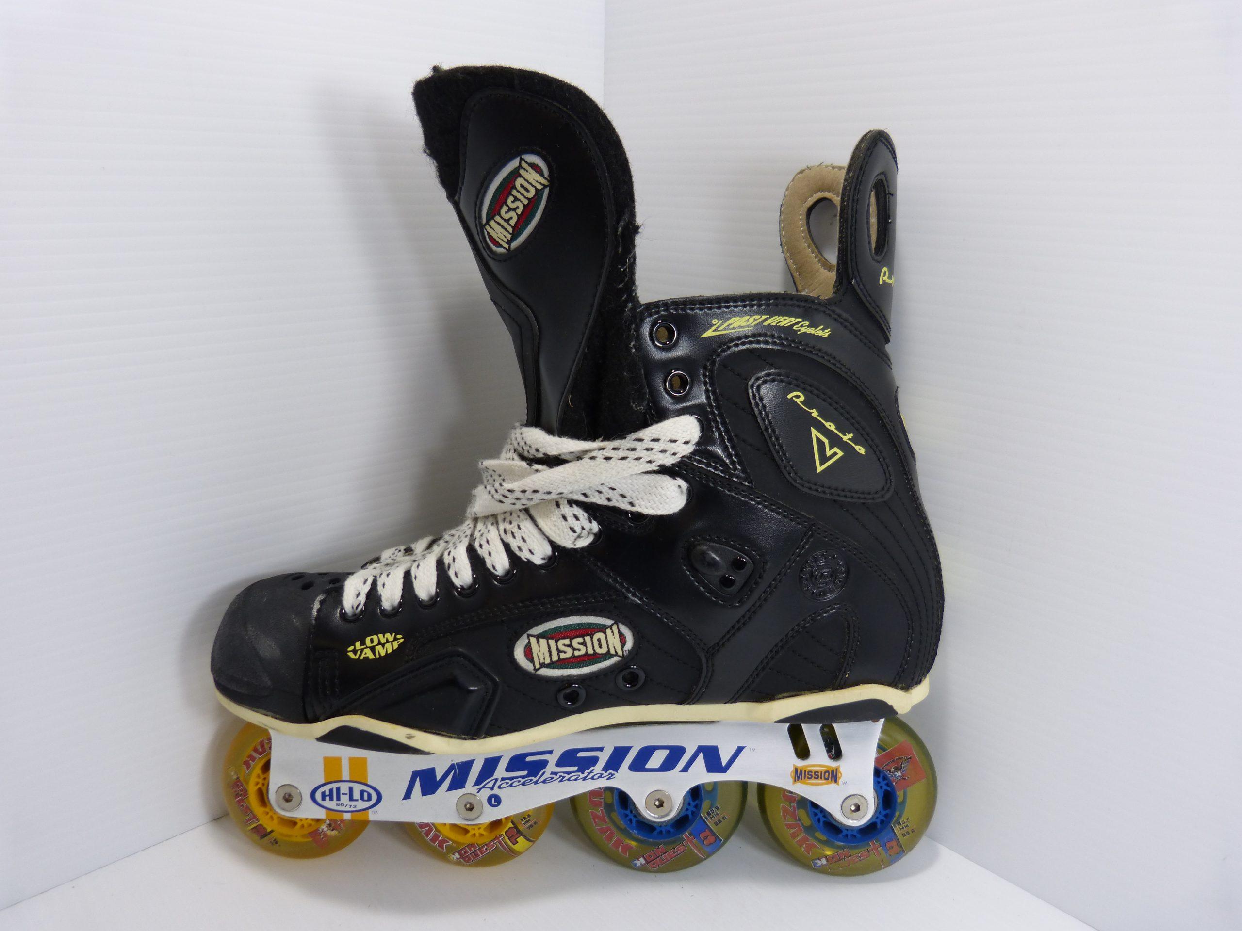 Mission Proto V Roller Hockey Inline Skates Mens Size 12 D Hi-Lo