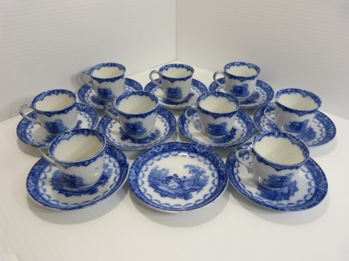 Royal Doulton Watteau Demitasse Cup & Saucer Set