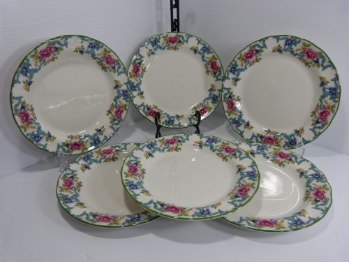 Royal Doulton Floradora Green Salad Plates