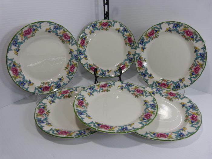 Royal Doulton Floradora Green Salad Plates