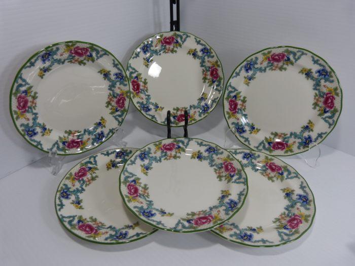 Royal Doulton Floradora Green Side Plates