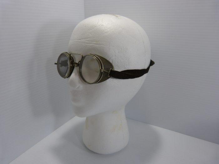 Antique Adjustoglas Safety Glasses Foldable Side Shields