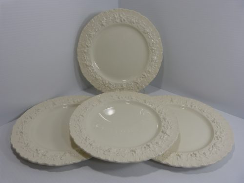 "Queensware Cream on Cream Dinner Plate 10"" Set of 4"