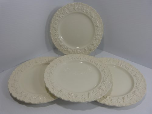"Wedgwood Queensware Cream on Cream Salad Plate 8"" Set of 4"