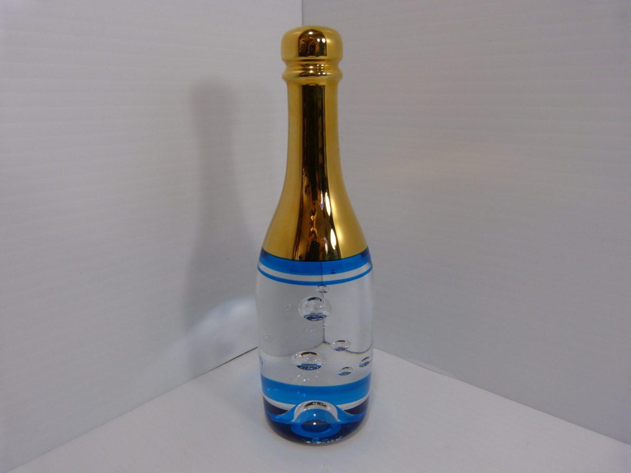 Kosta Boda Crystal Celebrate Champagne Bottle