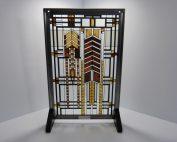 "Frank Lloyd Wright 11 3/8"" X 7 3/8"" Stained Glass Dana Thomas House Autumn Sumac"