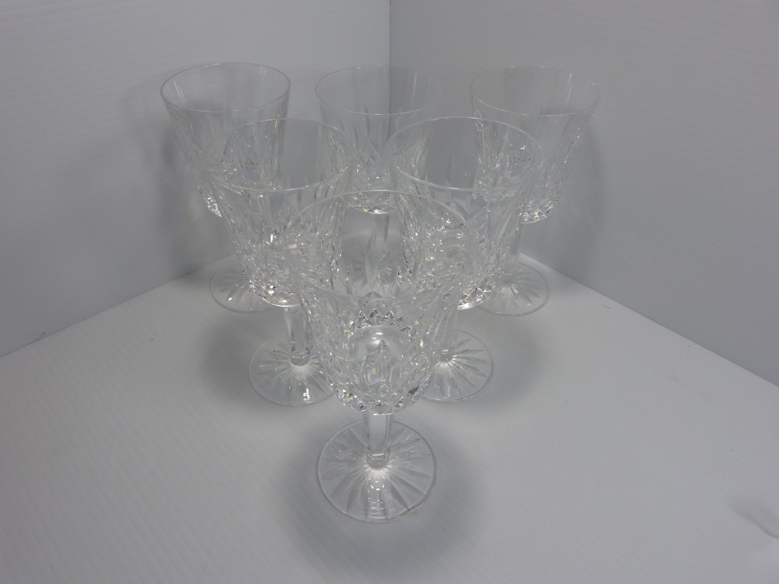 "Waterford Lismore Water Goblets 6 7/8"" Set of 6"