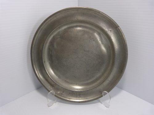"Antique Pewter Plate 8 7/8"" T Danforth Philadelphia"