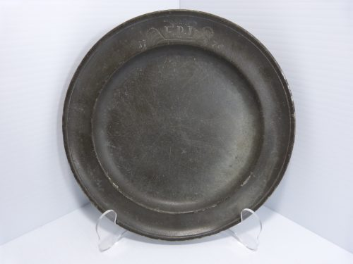 "Antique Pewter Plate 8 1/4"" FPD 1775"
