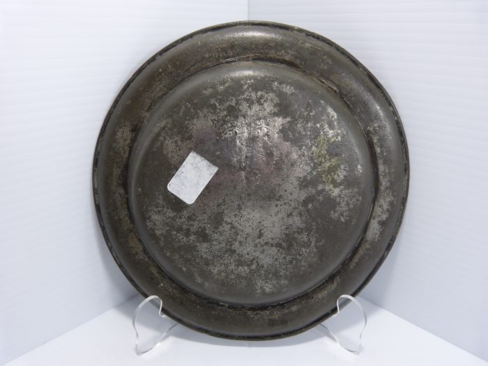 """Antique Pewter Plate 8 1/4"""" FPD 1775"""
