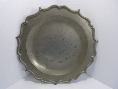 Antique Pewter Platter/Charger 12""