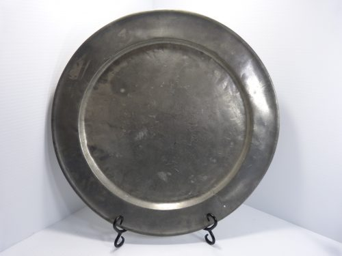 Antique Pewter Charger 16 1/2""