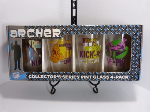 Archer Collector's Series Pint Glass 4 Pack