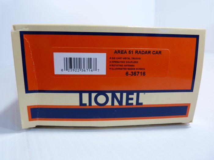 Lionel Area 51 Radar Car - 6-36716 - NIB