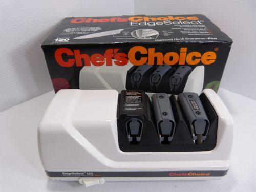 Chefs Choice Diamond Hone EdgeSelect Professional Electric Knife Sharpener 120