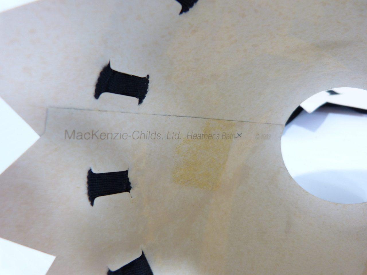 "MacKenzie Childs Paper Lamp Shades Beaded ""Heathers Bath"" 1993"