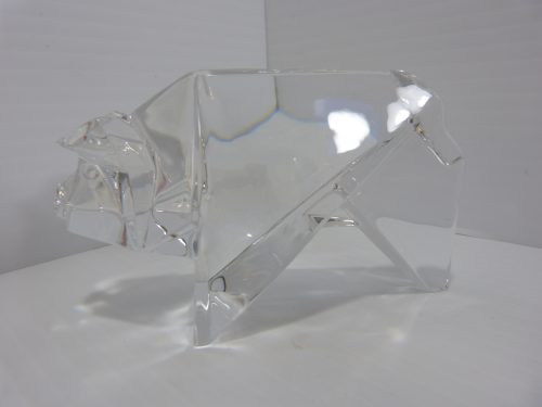 Baccarat Origami Pig Crystal