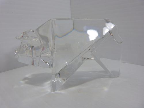 Baccarat Origami Pig Crystal