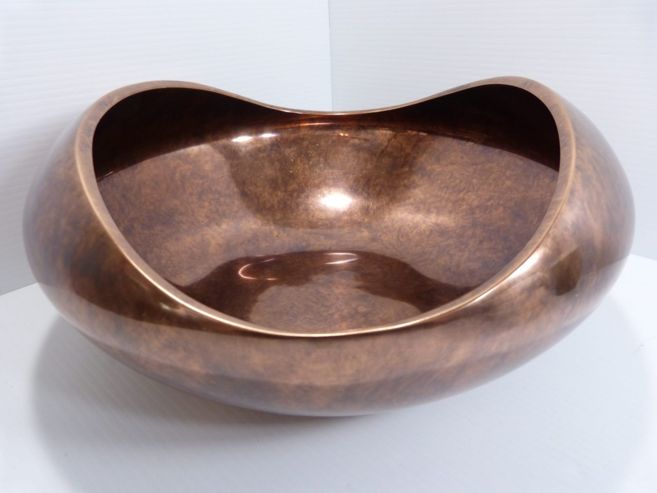"Nambe Heritage Collection Pebble Bowl Bronze Finish 14.5"""