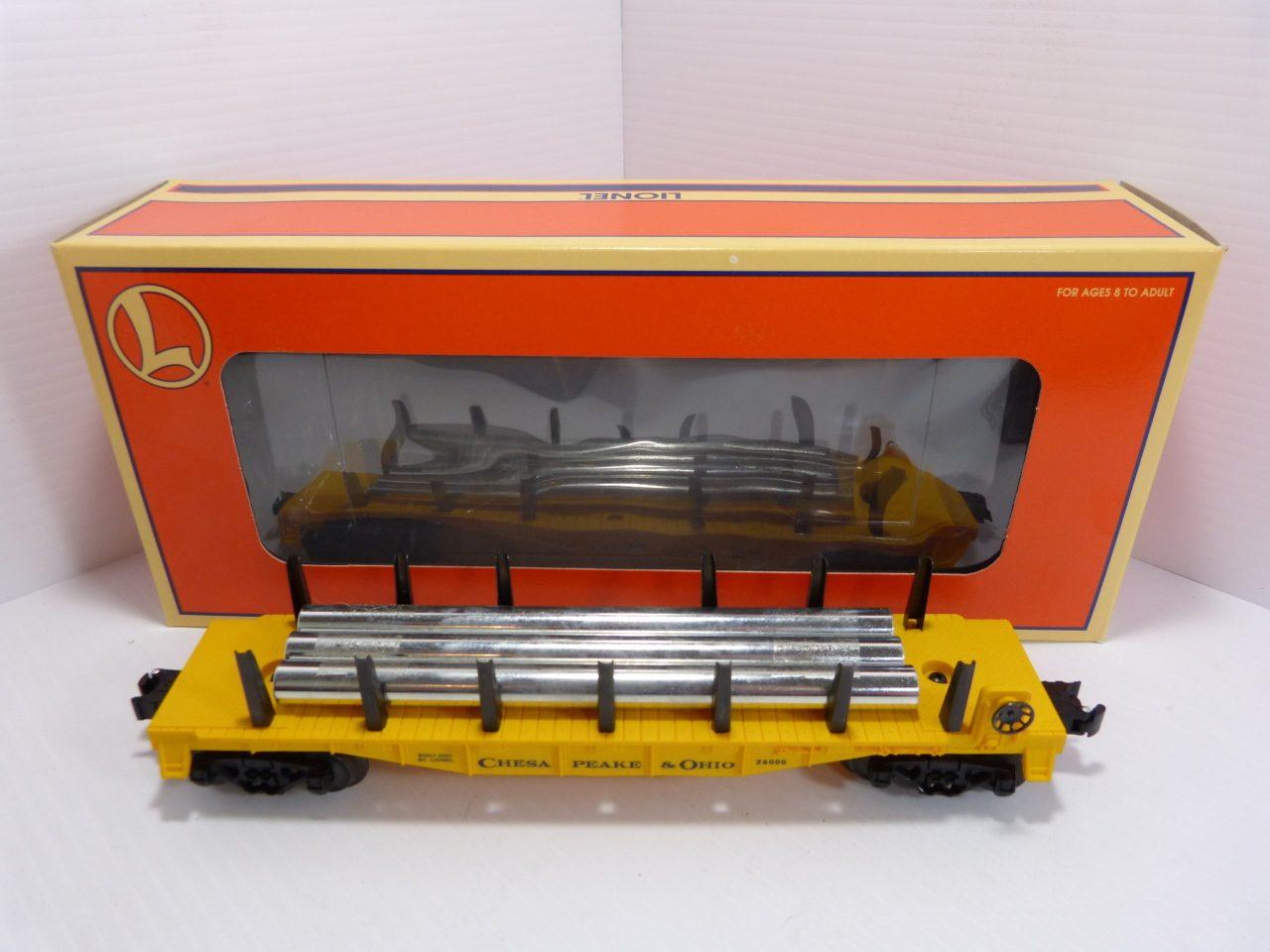Lionel 6-26000 C&O Flat Car & Pipes