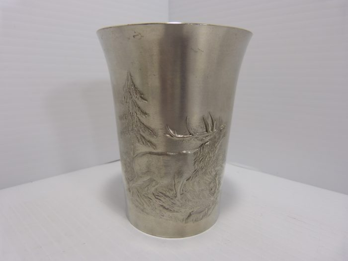 Mullingar Stag/Bird Pewter Cups Set of 6