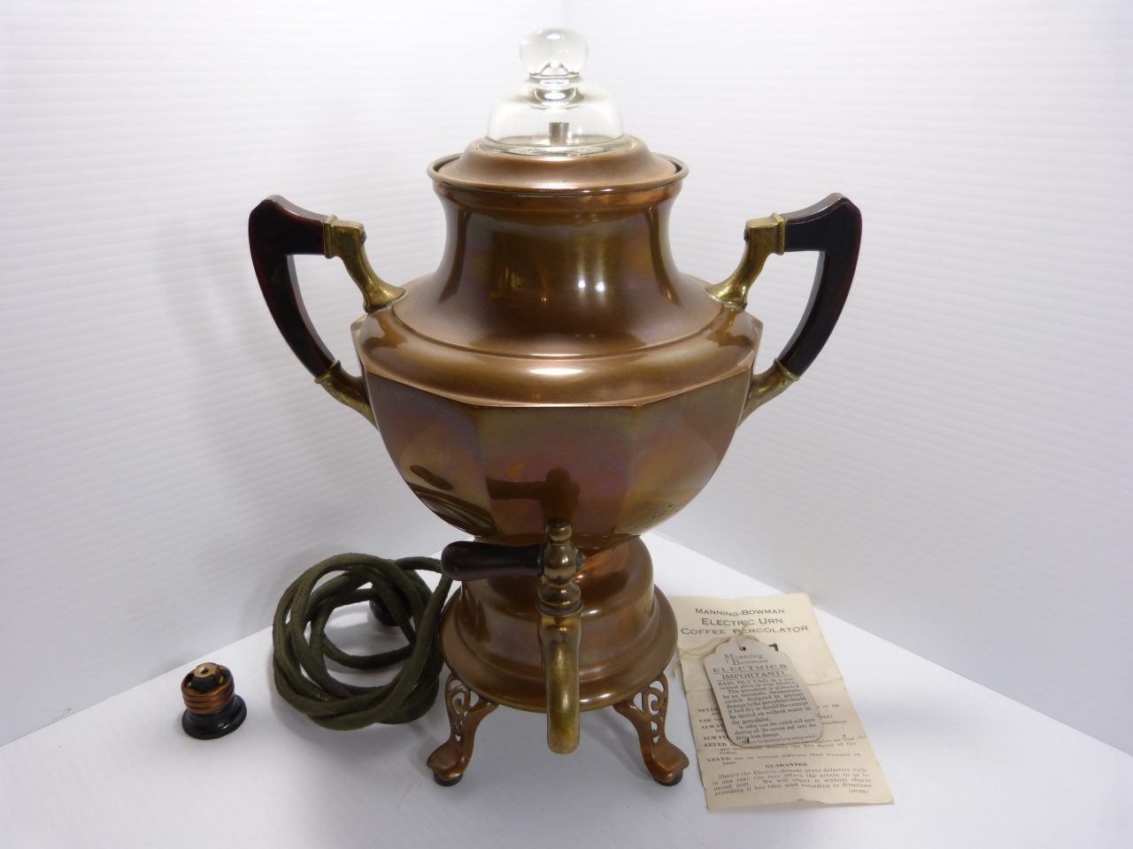 Vintage Manning-Bowman Electric Coffee Percolator