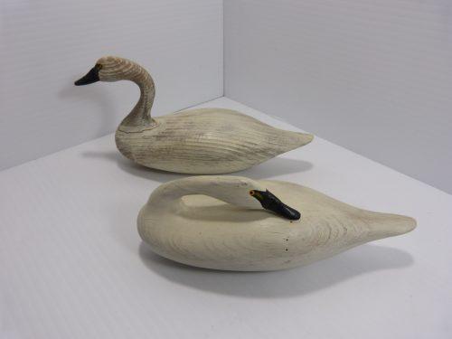 Bob Jobes Pair of Miniature Swan Decoys