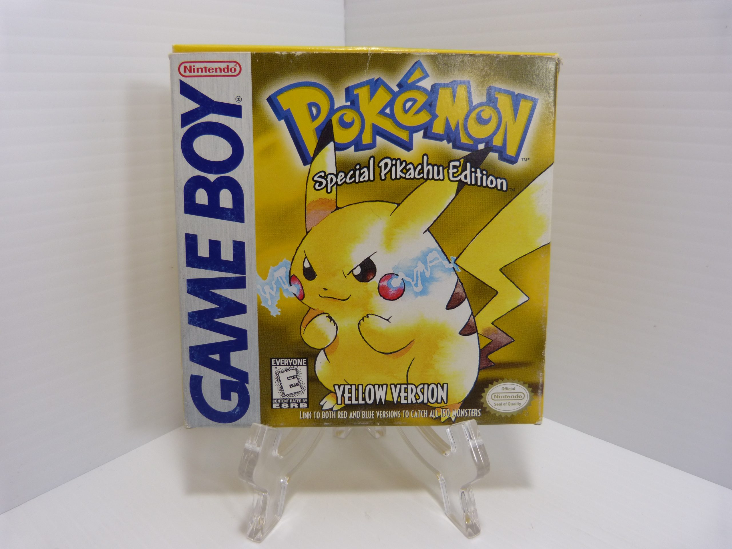 Pokemon Yellow Spicial Pikachu Edition Game Boy Manual Included With Box