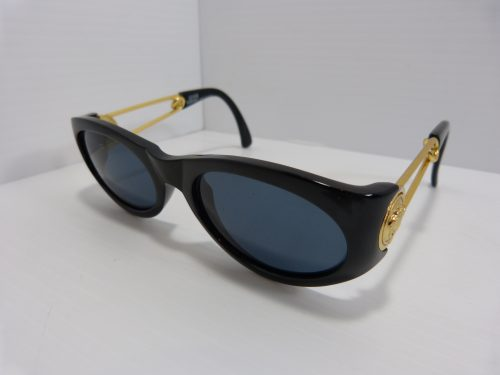Gianni Versace Sunglasses Model 429 Safety Pin Black/Gold