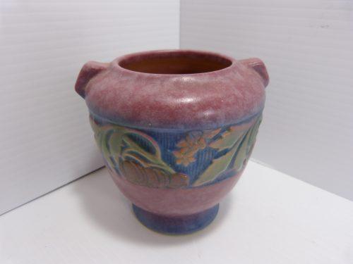 """Roseville Baneda Pottery Vase 4"""" 587"""