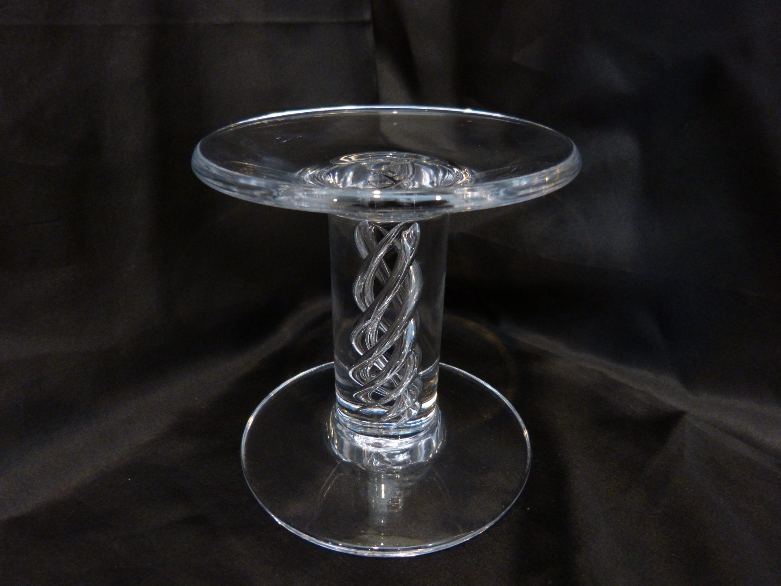 "Simon Pearce Stratton Pillar Candle Holder 5 3/4"""