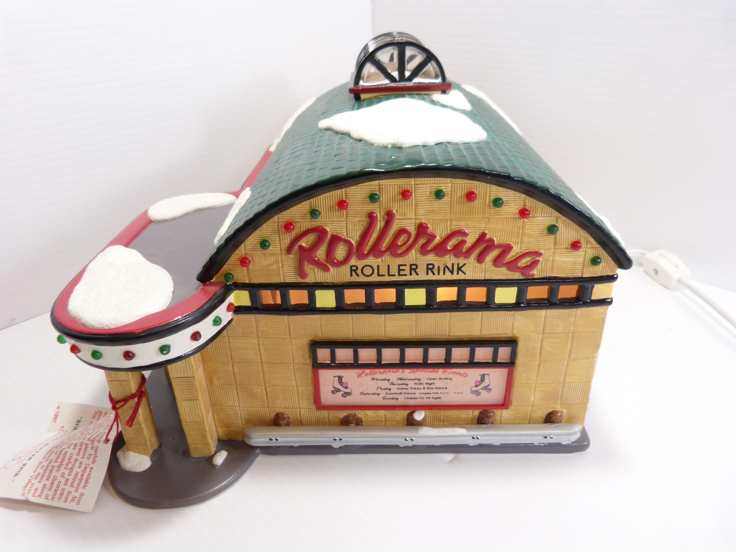 "Department 56 The original Snow Village ""Rollerama Roller Rink"""