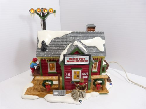 """Department 56 The original Snow Village """"Winter Park Warming House"""". This item is in mint condition in original box. Please check photos carefully."""