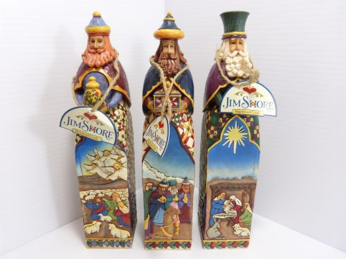 """Jim Shore Heatwood Creek """"A Gift of Caring. A Gift of Hope. A Gift of Love."""" Three Kings Figurine Set of Three"""