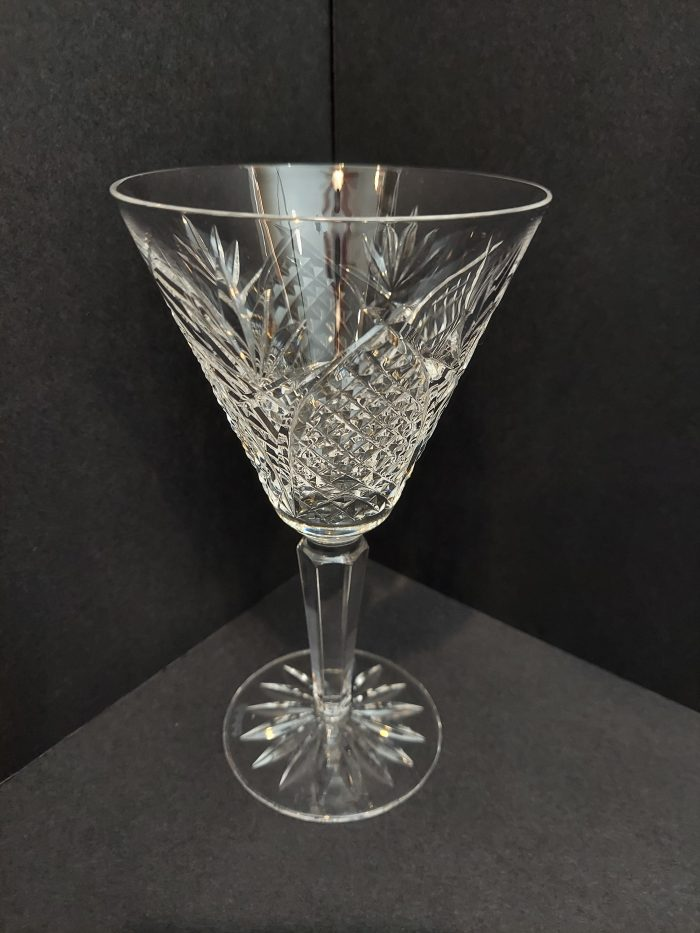 """Waterford Mooncoin 6 1/2"""" Claret Wine Glass Set of 4"""