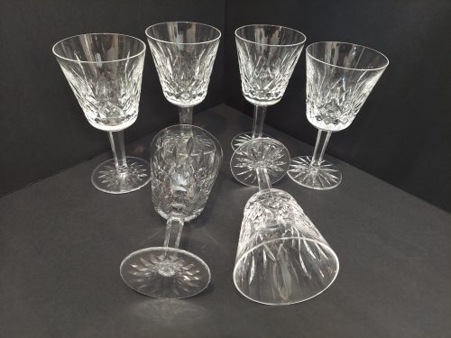 """6 Waterford Lismore Claret Wine Glasses 5 7/8"""""""