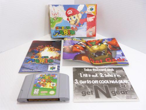 Nintendo Super Mario 64 Original Box with Books 1996