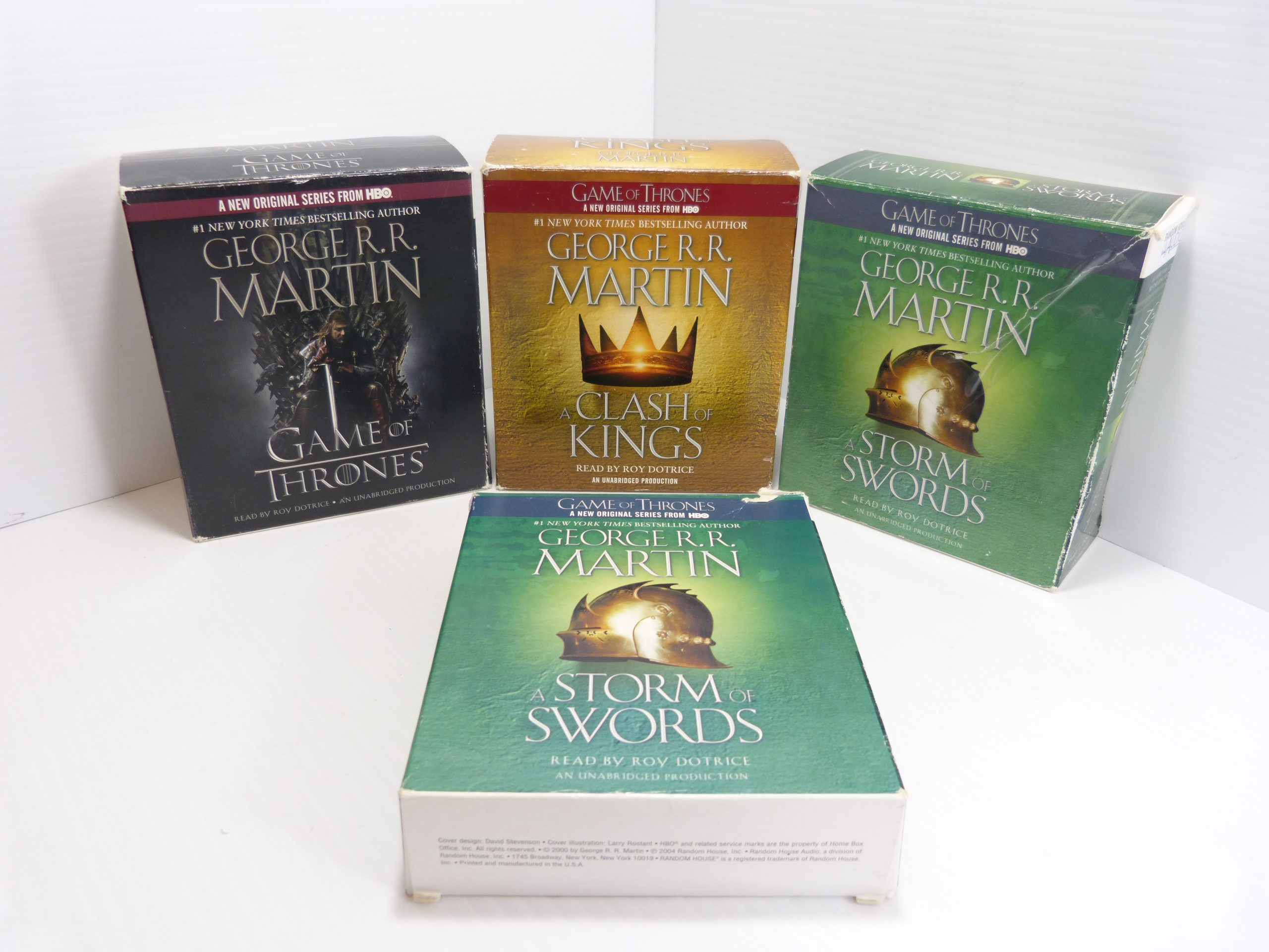 A Game of Thrones - A Clash of Kings - A storm of Swords - Set of Three Audio Books