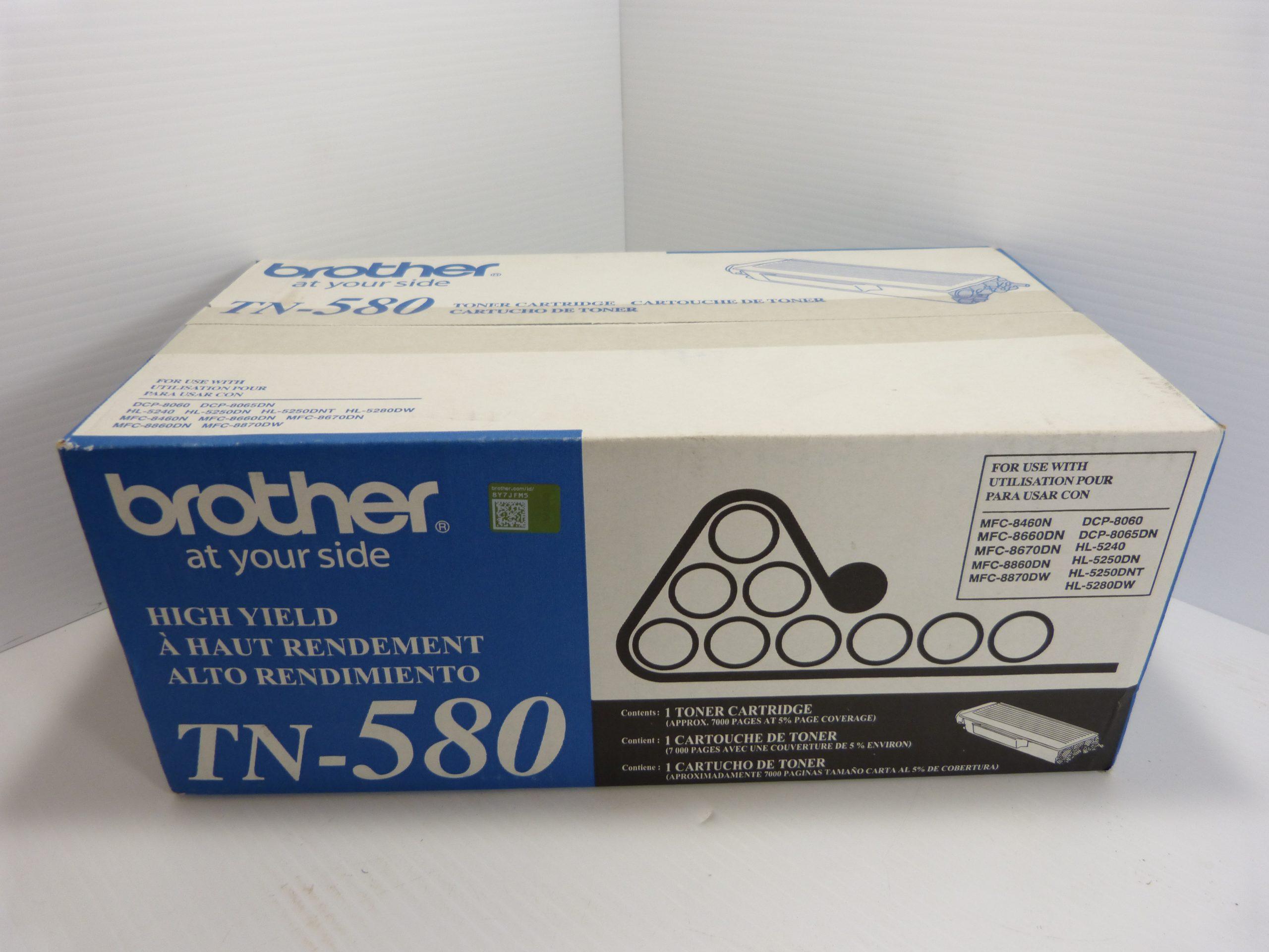 Brother TN-580 Original Toner Cartridge New in Box