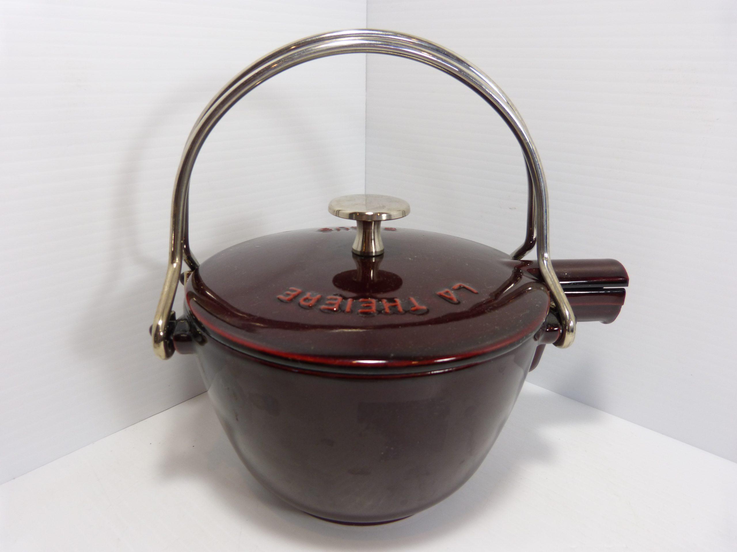 Staub La Theire Red Enamel Teapot Tea Kettle Cast Iron